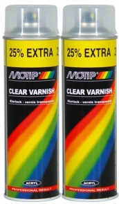 MOTIP CLEAR VARNISH aerozolinis lakas, 500 ml
