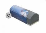 APP kaladėlė C, pusapvalė 135*45 mm