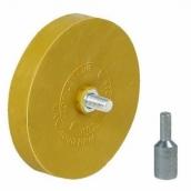 Guminis diskas lipdukų, klijų šalinimui su antgaliu drėlei