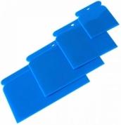 BLUE CAR plastikinių glais-tyklių rinkinys, mėlynos 4 dalys