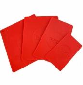 RANAL plastikinių glaistyklių rinkinys, raudonos 4 dalys