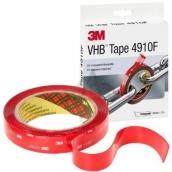 3M VHB 4910 akrylo dvipusė l.j.+gruntas skaidri 9mm * 1 mm *4.5m