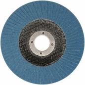 ZIRCONIUM INOX šlif. diskas lapelinis išgaubtos formos D125mm x22,2mm